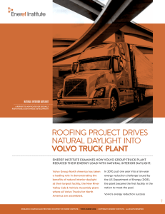 roofing project drives natural daylight into volvo truck plant