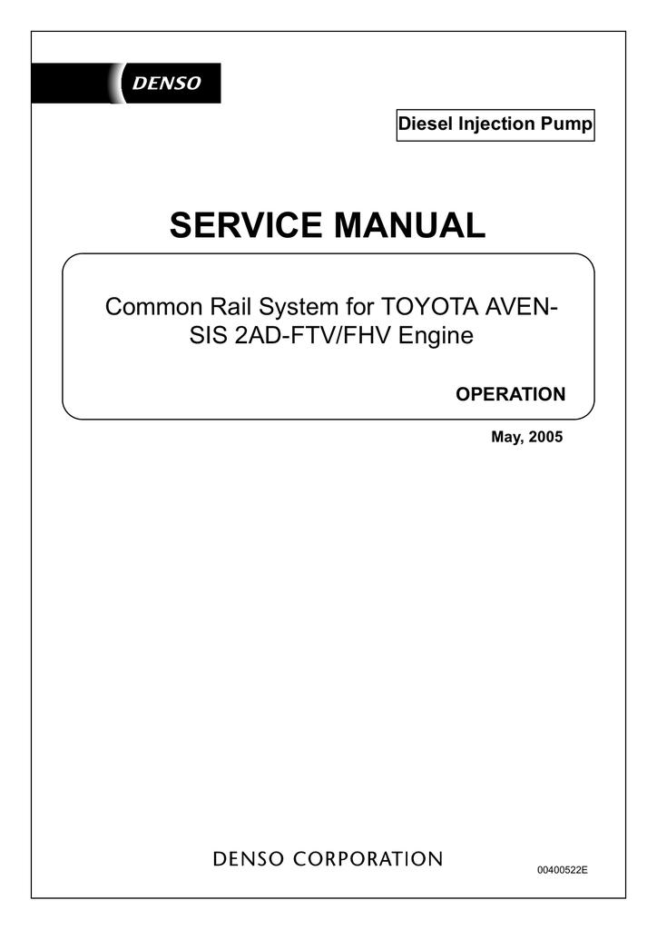 service manual - steldiesel ru