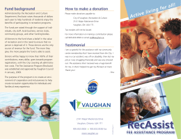 RecAssist - the City of Vaughan