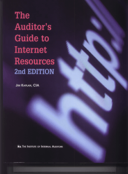 Chapter 1 An Overview of the Internet and Digital Literacy for Auditors