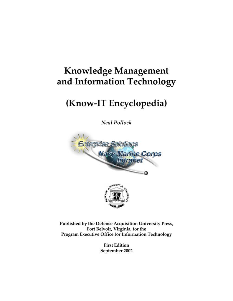 la gestion gestion la des connaissances et de la technologie de l'information 4440cc