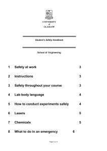1 Safety at work 3 2 Instructions 3 3 Safety throughout your course 3