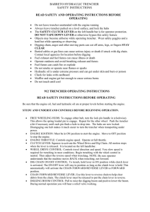 barreto hydraulic trencher safety instructions read