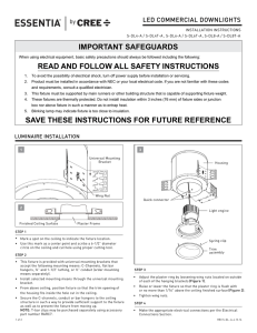 Essentia by Cree Adjustable Downlight Installation Instructions