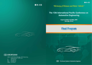 Final Program Downloa - International Journal of Automotive