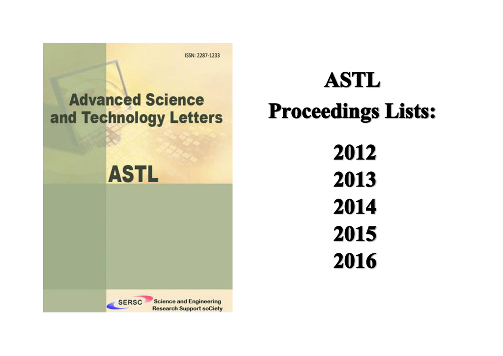 Astl published proceedings list fandeluxe Images