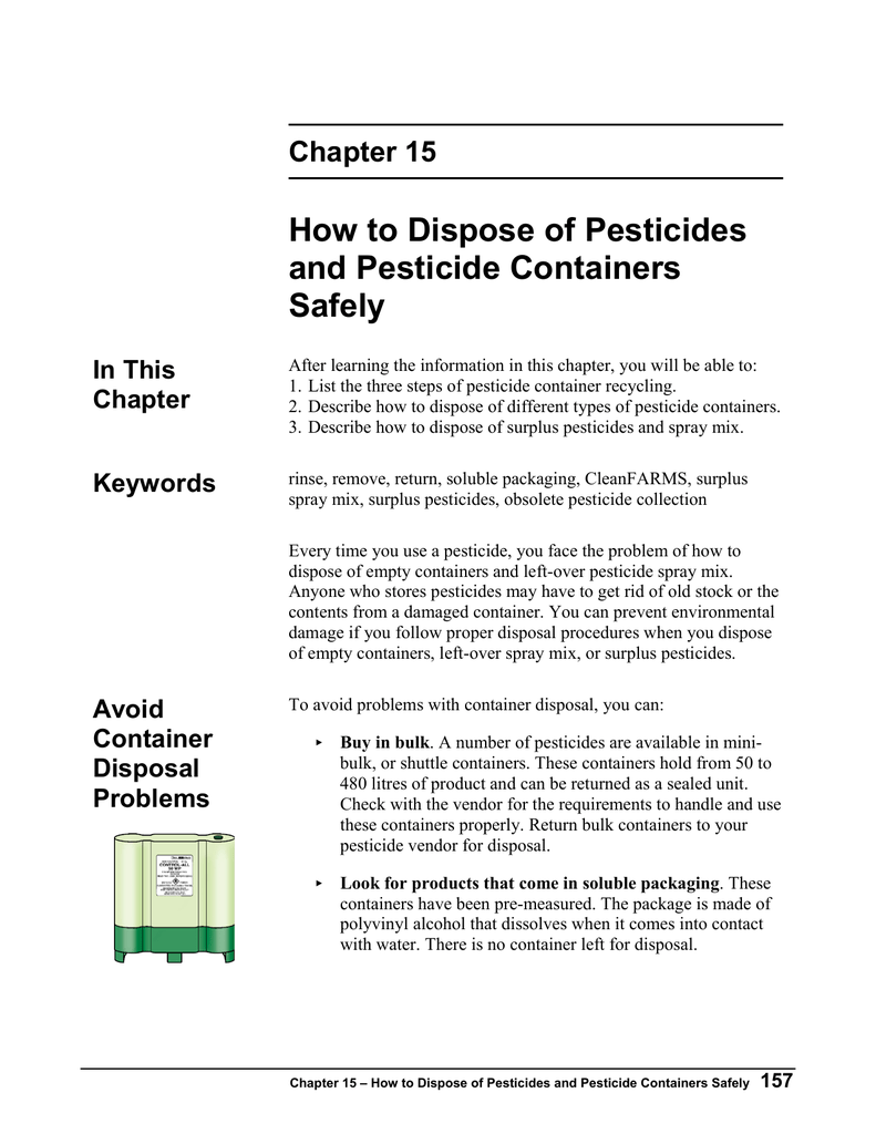How to Dispose of Pesticides and Pesticide Containers Safely