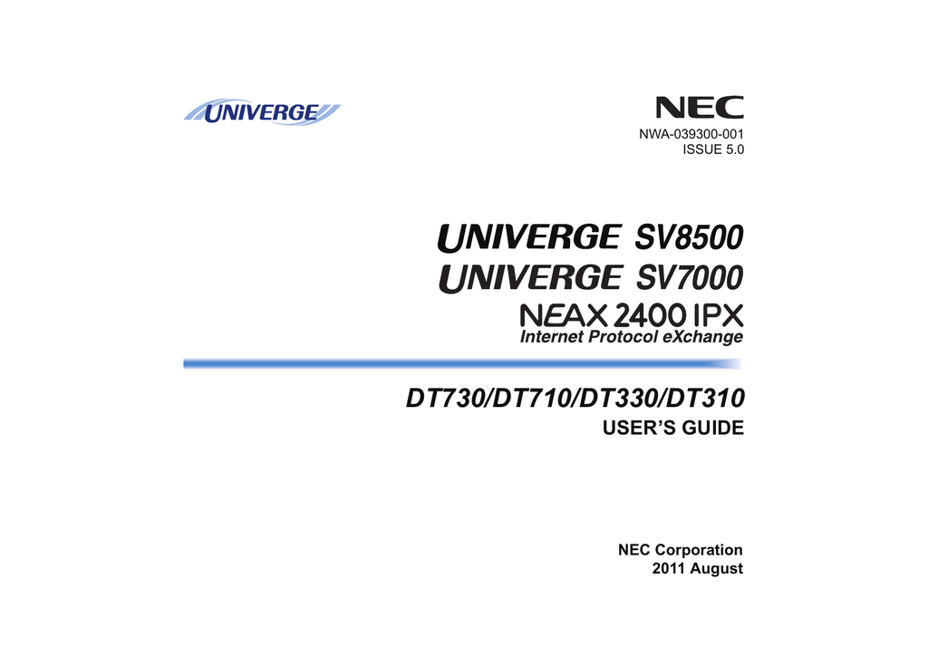 DT730/710/330/310 User`s Guide