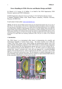 ITR/2-3 Power Handling in ITER: Divertor and Blanket Design and
