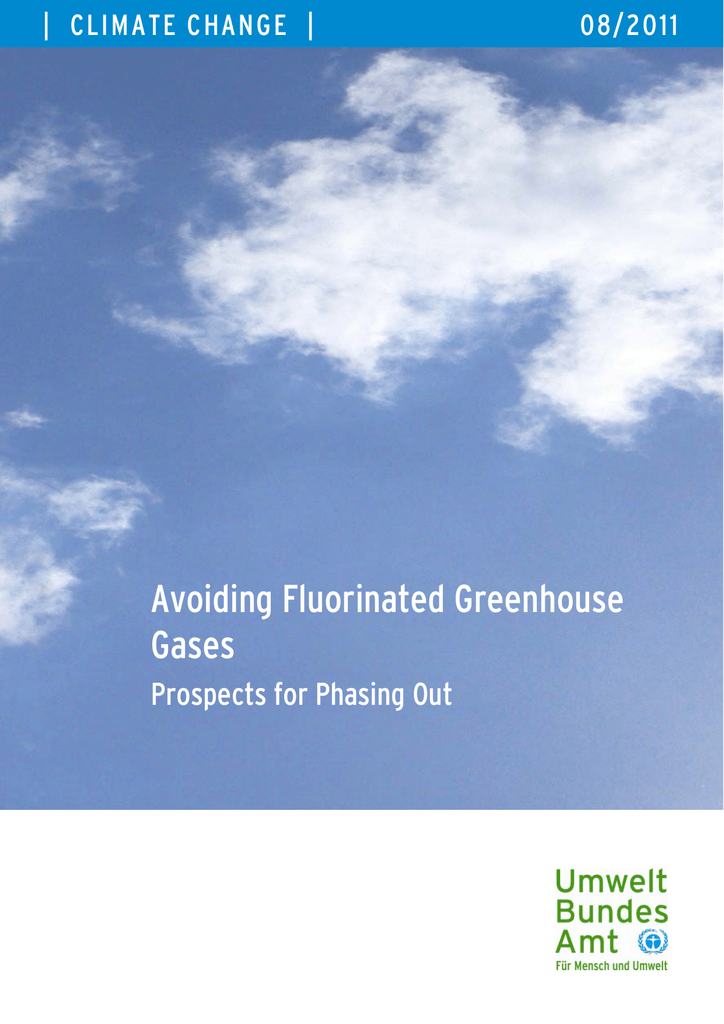 Avoiding Fluorinated Greenhouse Gases
