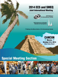 Special Meeting Section - The Electrochemical Society