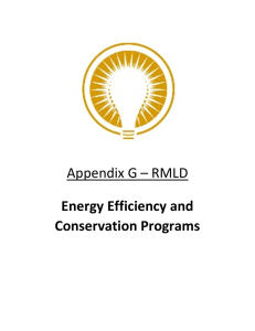 Appendix G – RMLD Energy Efficiency and Conservation Programs