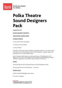 Polka Theatre Sound Designers Pack
