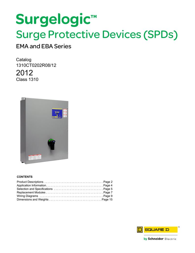 Surgelogic Ema And Eba Series Surge Protection Device Wiring Diagram