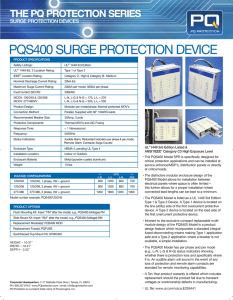 PQS400 SURGE PROTECTION DEVICE