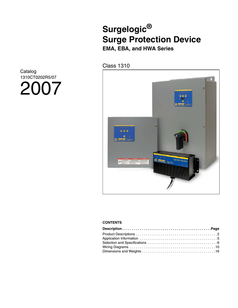 Surgelogic Surge Protection Device Wiring Diagram