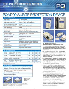 PQM200 SURGE PROTECTION DEVICE - 24