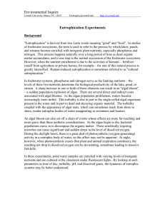 Eutrophication Experiments - Environmental Inquiry