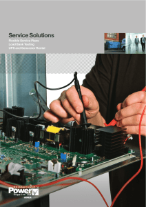Service Plan - Uninterruptible Power Supplies Ltd