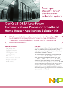 QorIQ LS1012A Low Power Communication Processor Network