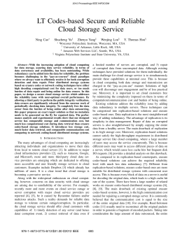 LT Codes-based Secure and Reliable Cloud Storage