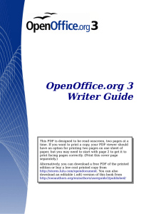 OpenOffice.org 3 Writer Guide