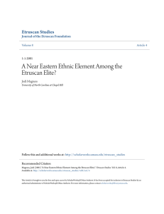 A Near Eastern Ethnic Element Among the Etruscan Elite?