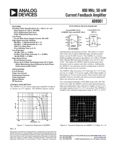 Analog Devices AD8001ARZ Datasheet