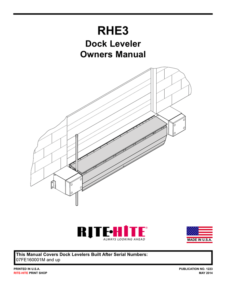 Rite Hite Dock Leveler Installation Manual