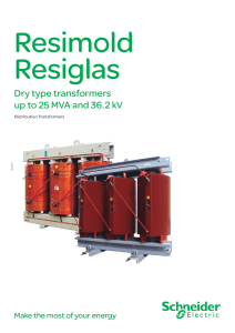 Dry type transformers up to 25 MVA and 36.2 kV