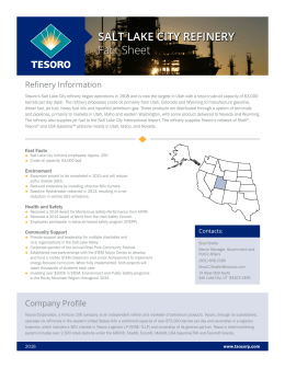 SALT LAKE CITY REFINERY Fact Sheet