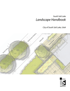 Landscape Handbook - City of South Salt Lake