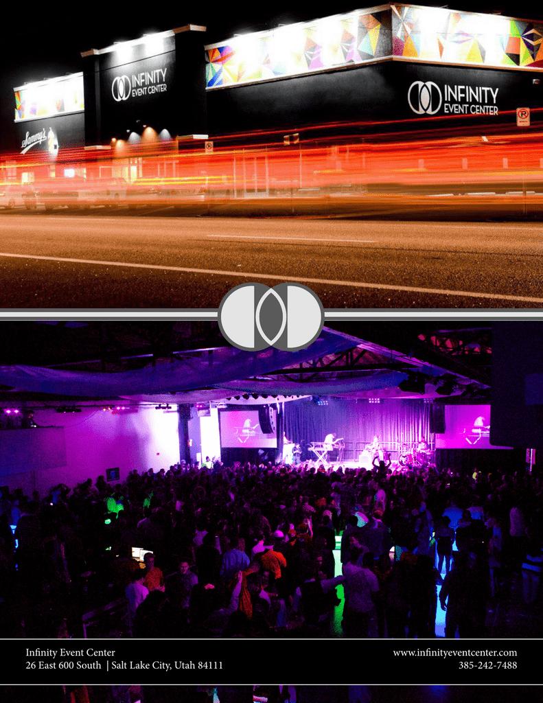 Infinity Event Center 26 East 600 South Salt Lake City