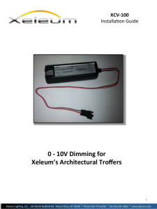 0 -‐ 10V Dimming for Xeleum`s Architectural Troffers