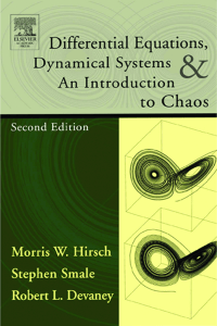 Differential Equations, Dynamical Systems, and an Introduction to