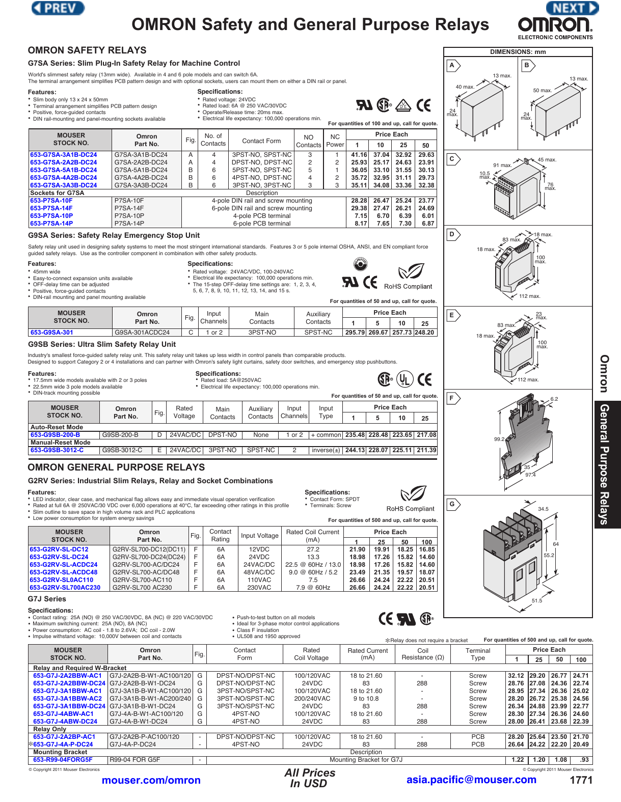 OMRON Safety and General Purpose Relays on