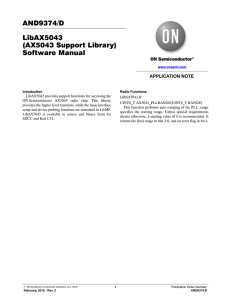 AND9374 - LibAX5043 (AX5043 Support