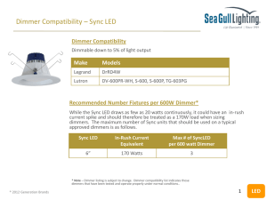 Compatible Dimmers - Sea Gull Lighting