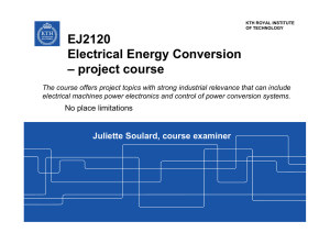 EJ2120 Electrical Energy Conversion – project course