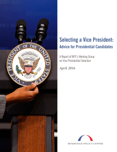 Selecting a Vice President