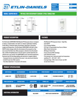 model: senpir-wm-01 pir wall box occupancy sensor