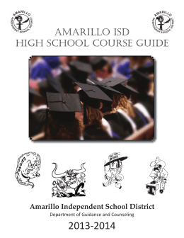 amarillo isd high school course guide