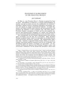 zivotofsky ii as precedent in the executive branch