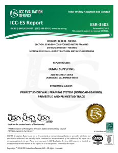 ESR-3503 - Olmar Supply Inc. - ICC-ES