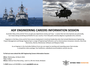 ADF Engineering Careers Information Session