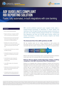 ADF Guidelines Compliant RBI Reporting Solution