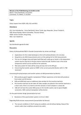 Memo of the Mainz meeting (13.10.2014) - Helmholtz