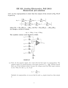 EE 321 Analog Electronics, Fall 2013 Homework #3 solution