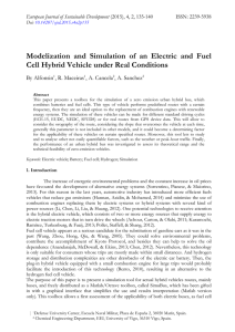 Modelization and Simulation of an Electric and Fuel Cell Hybrid