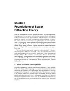 Foundations of Scalar Diffraction Theory